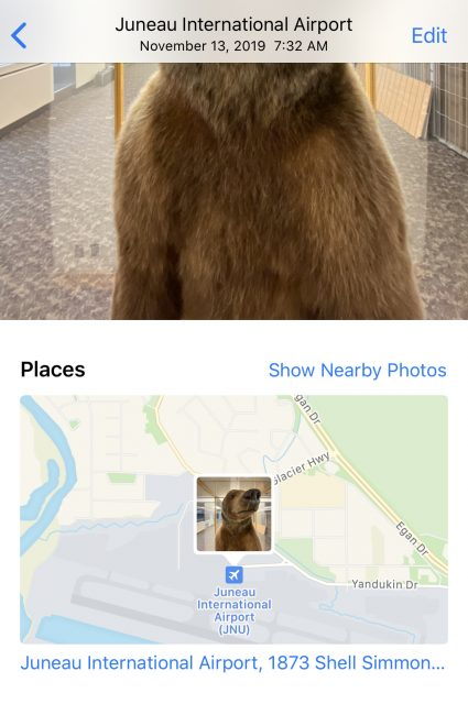 how to show location in your iPhone photos